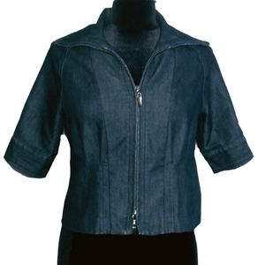 Kenneth Cole Stretch Jean Jacket ~ Size 2